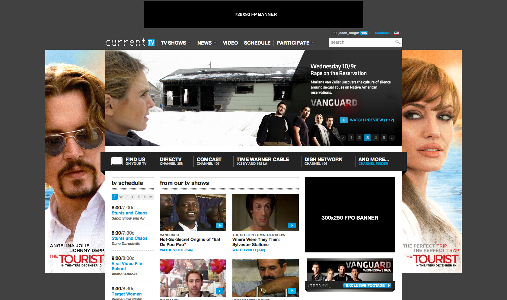 The Tourist Homepage Takeover