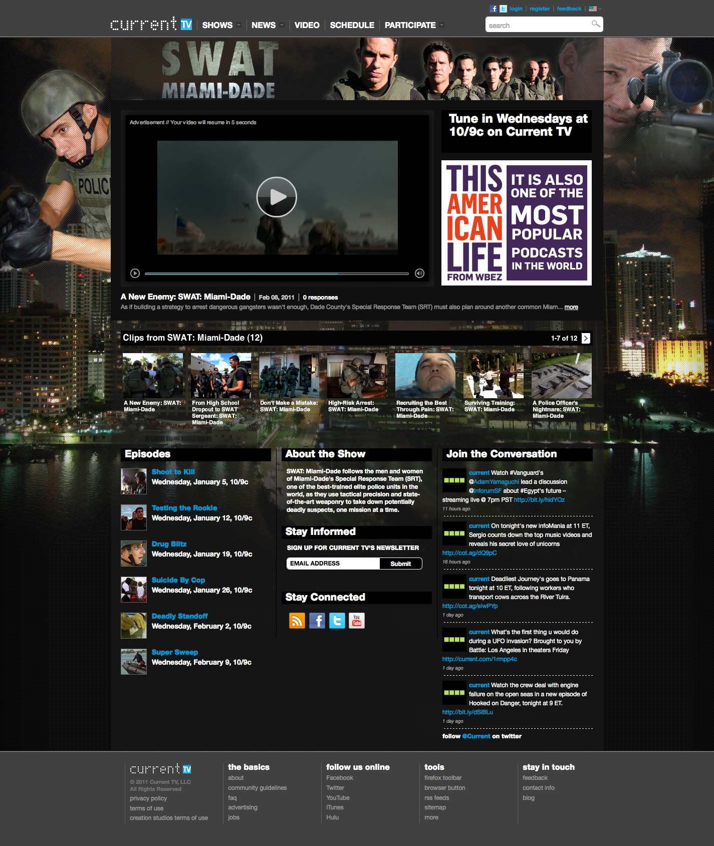SWAT Miami Show Page
